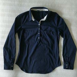 Zara Basics | Navy Button Up Top Size 6